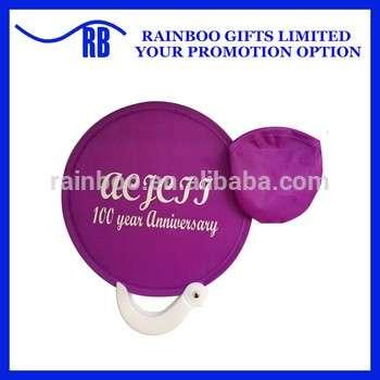 定制标识印刷廉价促销狗尼龙折叠织物飞碟与手柄