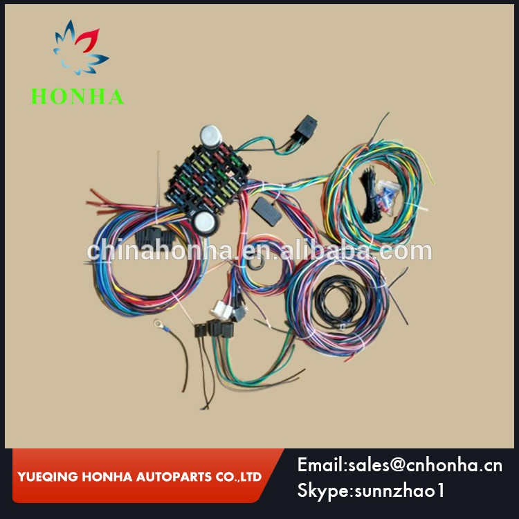 21circuit Automotive Wire Harness Universal Plete Replacement Wiring And Fuse Block Assemble Kits: Universal Automotive Wiring Harness At Jornalmilenio.com