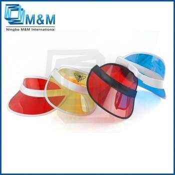 Promotion Cheap Colour Customized Plastic Sun Visor Cap Hat 2a815990fd07