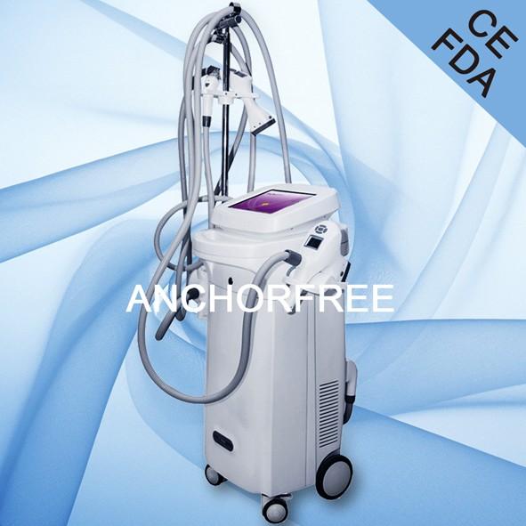超声空化+真空吸脂+激光+双极射频+滚筒按摩超声波减肥机