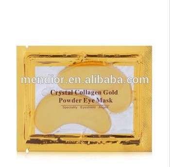 mendior私人标签眼膜抗皱保湿黄金胶原蛋白水晶眼膜