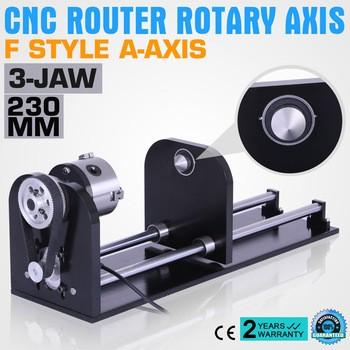 数控路由器附件F型轴,80mm的三爪230mm跟踪CO2激光雕刻机旋转轴