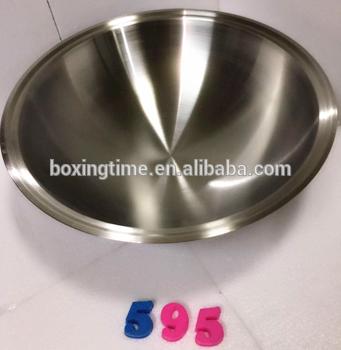 优质无磁48厘米直径钢炒锅金属炒锅野营户外燃气灶用碳钢炒锅