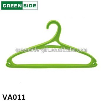 Good quality customized color cheap coat plastic clothes hanger