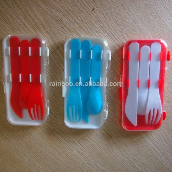 廉价标识印廉价旅游餐具集塑料汤匙刀叉于一体促销