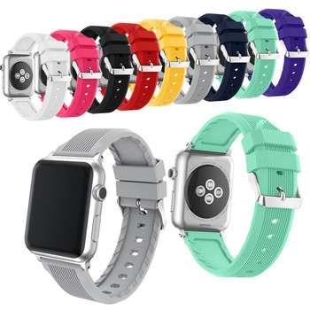 2017苹果手表乐队最畅销的硅手表表带苹果手表