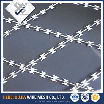 用于安全围栏的高强度镀锌锐刺铁丝