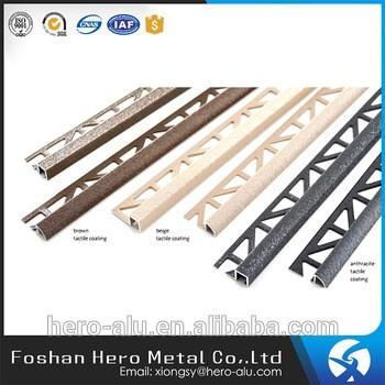 Ornamental Aluminum Ceramic Tile Corner Edge Trim L Shape Tile Trim - Ceramic tile trim shapes