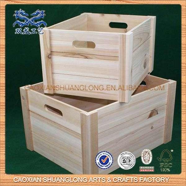 新设计的热卖便宜的木箱水果出售,出售廉价的木材运输箱