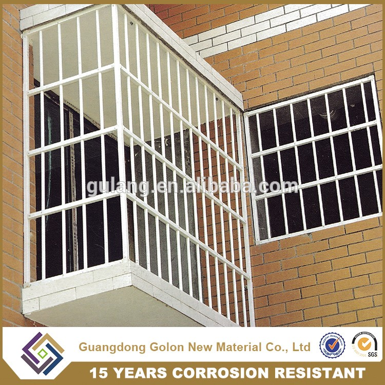 Latest Modern Simple Steel Aluminum Iron Window Grill Design For Homes