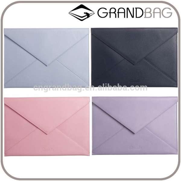 高质量的超薄正品真皮大信封状设计的旅行证件持有人持有A4文件袋