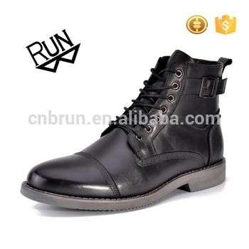 2017中国皮革厂人户外安全的军靴黑色