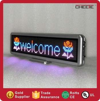Wireless Multi Color LED Car Scrolling Message Display Board