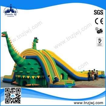 广州工厂价格带滑梯的儿童充气城堡