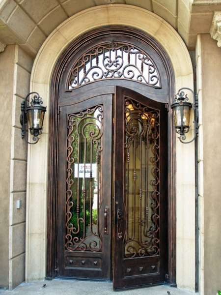 Transom Front Entry Door The Latest Steel Wrought Iron Decorative