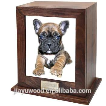 Cheapest Wholesale Handmade Pet Casket With Photo Solid Wood Funeral