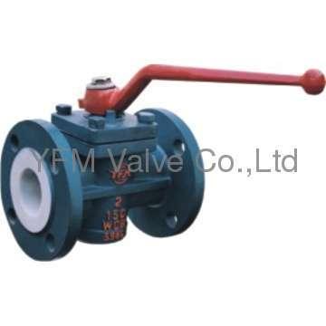 Manual operator PFA lined Straight plug valve Like