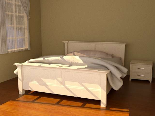 Mahogany White Modern Style Bedroom Set