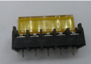 PCB Barrier Terminal Block with 9.5mm Black with Cap