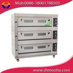 商用气体烘焙炉/甲板面包烘焙炉/比萨饼烘焙机(3层9盘,制造商低价)