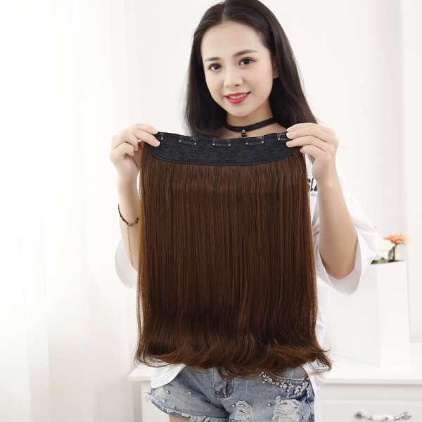 26 Black Straight Hair Clip Synthetic One Piece Hair Tracks 5