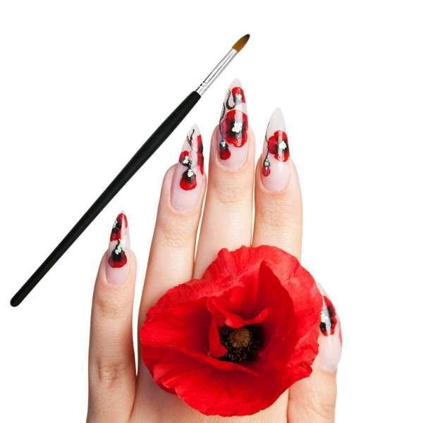 2PCS指甲艺术刷套画指甲艺术刷