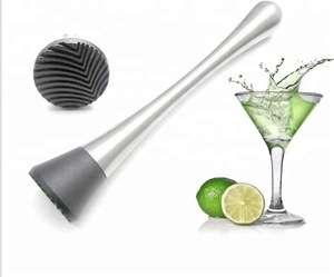 酒吧不锈钢鸡尾酒&Mojito Muddler混合饮料搅拌机