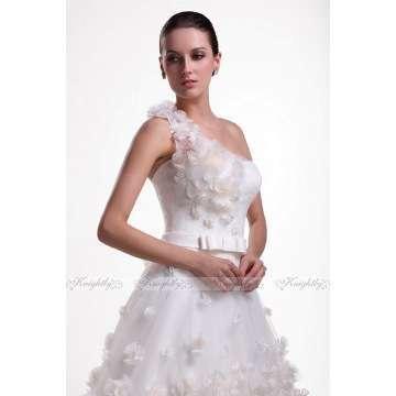 Knightly Bridal Wedding Dress One-Shoulder Flowers Ball Gown Like