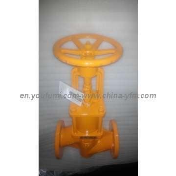 Flange type PFA lined stop globe valve Like