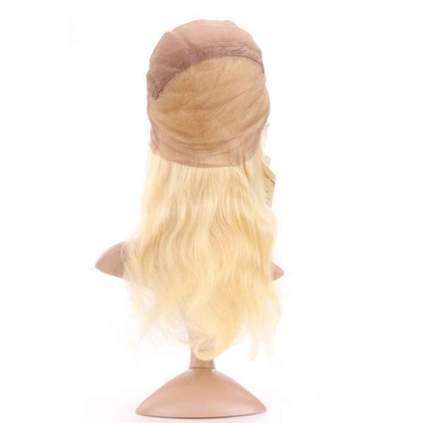 613 Color Blonde LaceWigs Silky Straight Virgin Human Hair Ombre Human Hair Wigs Lace Wigs for Women Natural Hairline wigs001