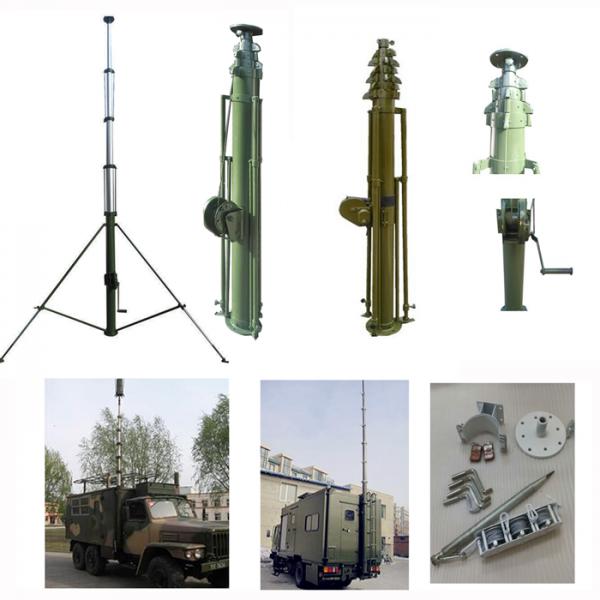12m Ham Radio Trailer Manual Folding Antenna Mast