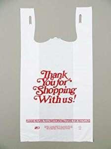 biodegardable谢谢你T恤的塑料袋从越南