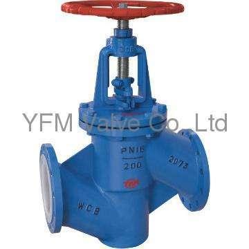 Through way type PFA lined stop valves J41 globe valve Like