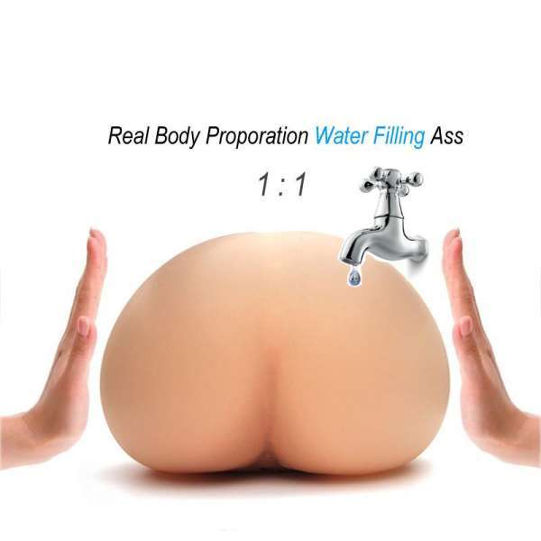 Solo Flesh Water Injected Air Inflation Artificial Vagina Real Pussy Pocket Pussy Male Masturbator For Man Male Sex Toy