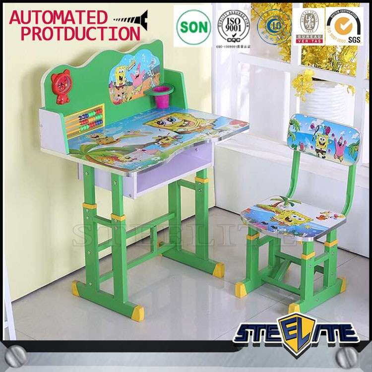 Fantastic Small Cartoon Drawing Painted Kids Study Table Kids Table Pabps2019 Chair Design Images Pabps2019Com