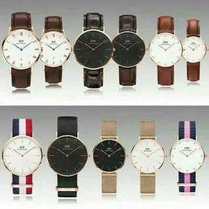 D W  alloy watch case golden quartz watch  unsex wirst watch without date