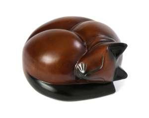 PY50 - Sleeping Cat Casket - Cherry / Black / Mixed Finish