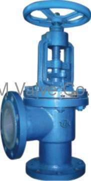 PFA lined Y-type globe valve stop valves Like
