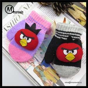 Angry Birds® Children Kids Warm Cartoon Hat Scarf Mittens Gloves Soft Fur Red