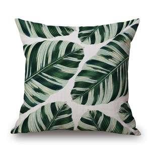 Cotton and hemp tropical rain forest leaf cactus printing pillow cushion car cushion