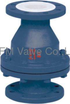 Telfon lined Flange type H44 Swing check valve Like