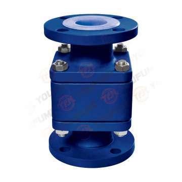 Telfon lined flange floating ball check valve Like