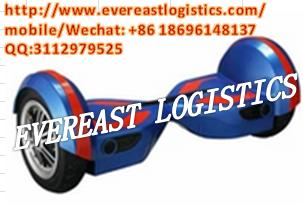 平衡车电动扭力滑板车海运中国三藩美国海上货物