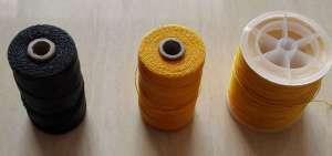 Linen waxed threads