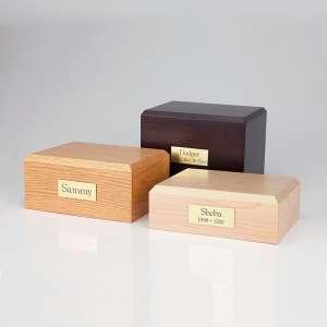 PY11 - Traditional Horizontal Photo Urn - Oak / Walnut / Maple Photo urn boxes - Four sizes