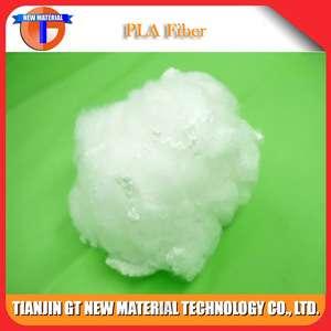 透气6d 64mm聚乳酸短纤维用于纤维填充