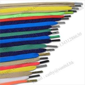 colorful metal aglet shoe laces