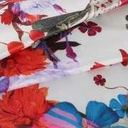 Polyester spandex DTY silk milk 4 way stretch custom digital print swimwear fabric