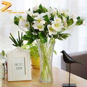 Wholesale Factory Home Decoration Silk Fake Flowers Wedding Arrangements Preserved Artificial Dried Flowers
