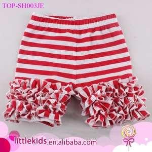 Fashion Baby Baby Little Girls Short Icing Triple Ruffle Shorts